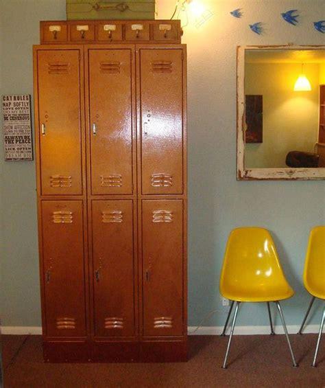 schoolhouse style stools maps lockers vintage