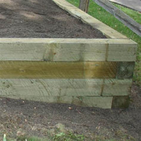 Using Landscape Timbers For Retaining Wall Cn R Lawn N Landscape Photo