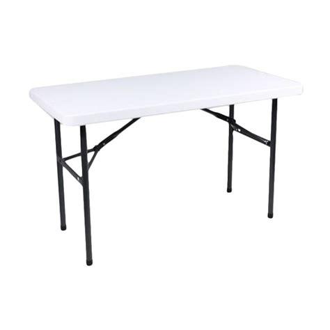 Jual Meja Lipat Plastik Untuk Jualan jual krisbow meja lipat persegi white harga