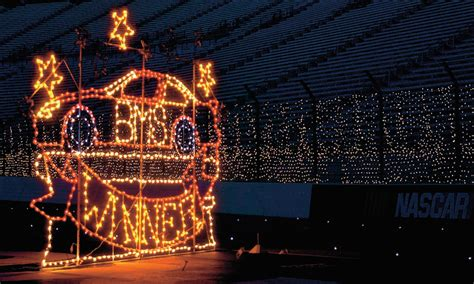 bristol speedway lights up holiday nights tennessee home