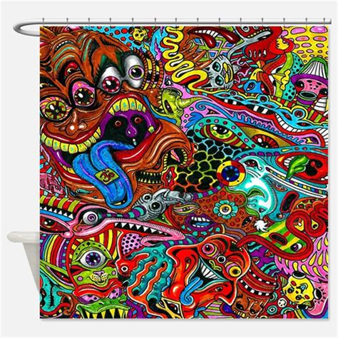trippy curtains psychedelic shower curtains psychedelic fabric shower