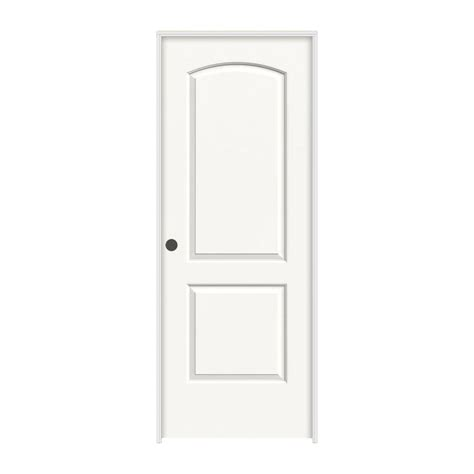 White Prehung Interior Doors Jeld Wen 36 In X 80 In Continental White Painted Right Smooth Molded Composite Mdf Single