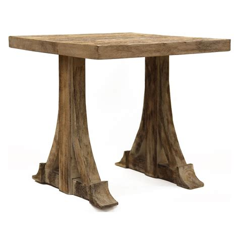 country accent table bois rustic country teak side accent table kathy