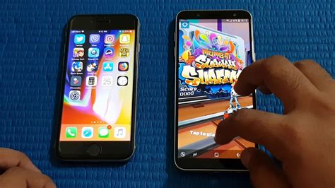 samsung galaxy    iphone  speed test
