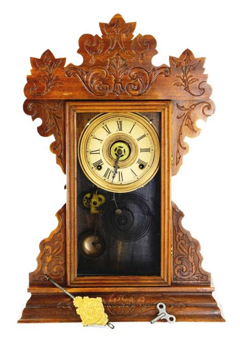the gallery for gt cool wooden clocks antique wood gingerbread mantle shelf clock