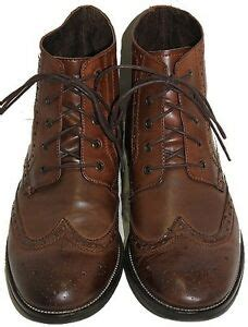 Steve Madden Shoes Size 2 by Mens Steve Madden Evander 2 Brown Leather Ankle Lace Wingtip Boots Size 13 Ebay