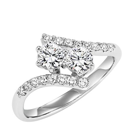 14k white gold twogether 1 2cttw 2 style bypass