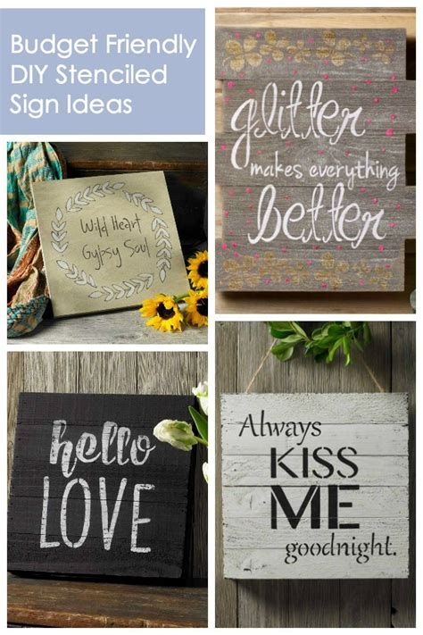 how to make diy home decor signs on a budget diy