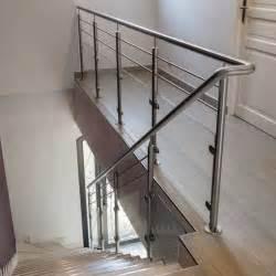 rambarde escalier int 233 rieur verre et 2 barres inoxdesign
