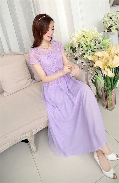Dress Pesta Model Gaun Pesta Brokat Lengan Pendek