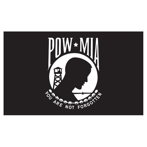 pow flag 3ft x 5ft heavy duty spun polyester