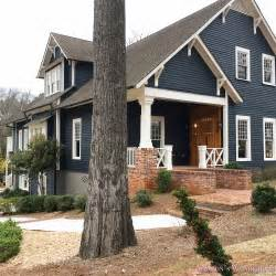blue gray house color exterior craftsman home house dark blue gray paint color