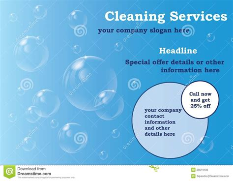 Cleaning Services Flyer Template Stock Illustration Illustration Of Advert Laundry 28019106 Cleaning Service Template Free