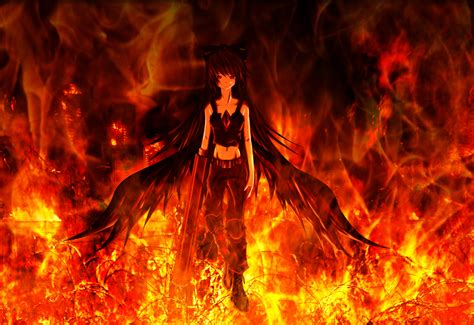 wallpaper girl on fire the prototype full hd wallpaper and background image