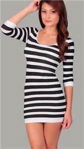 Tp Spandex Stripe Sleeve black beige seamless fitted stripe bodycon stretchy