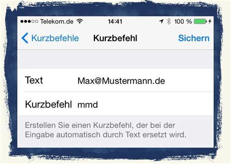 Mit Freundlichen Grüßen Max Mustermann Iphone 6 Kurzbefehle Textbausteine F 252 R Abk 252 Rzungen Nutzen Anleitung Teil 17 Mobil Ganz