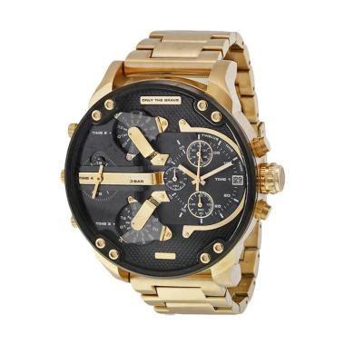 Jam Tangan Diesel Dual Time Gold jual jam tangan formal pria model terbaru harga murah