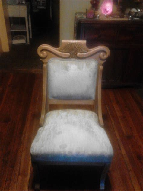 Old Chair With Casters On Front Legs My Antique