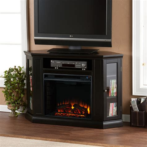 claremont wall or corner electric fireplace media console