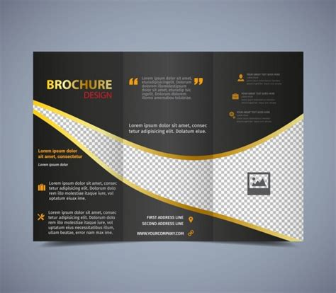 how to layout a brochure in illustrator brochure template trifold dark checkered design free