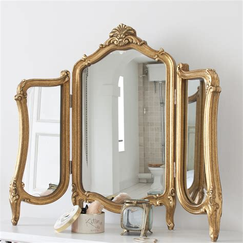 table and mirror valentina gold dressing table mirror dressing table