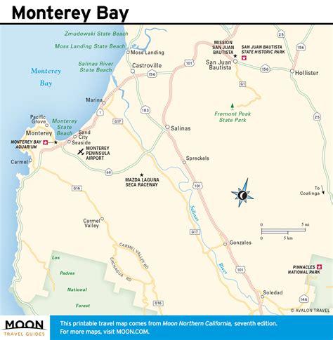 map monterey ca printable travel maps of coastal california moon