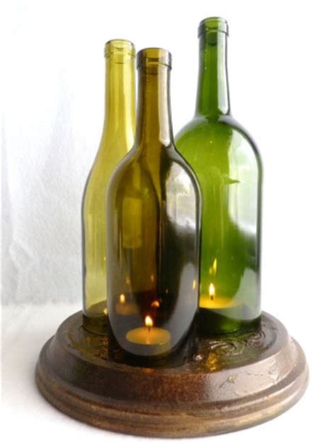 wine bottle candle centerpieces wine bottle candle centerpiece hurricane by bomolutra