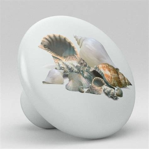 Seashell Door Knobs by Sea Shell Ceramic Knobs Pulls Kitchen Drawer Cabinet