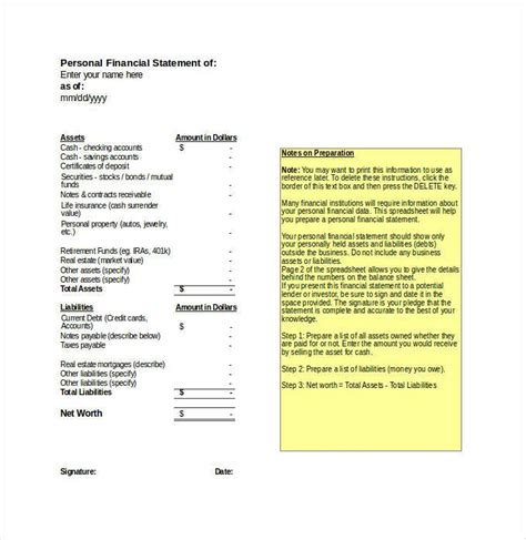 financial statements templates for excel financial statement template 24 free pdf excel word