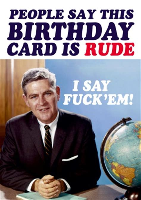 Offensive Birthday Meme - rude birthday card dean morris dm2034
