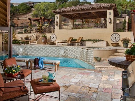backyard pool deck ideas tips for designing a pool deck or patio hgtv