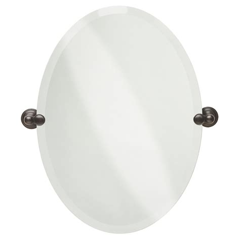 oval frameless bathroom mirror shop delta providence 19 in x 26 in oval frameless