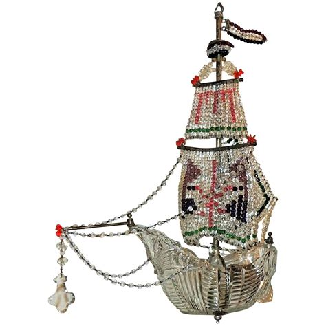 Sailboat Chandelier Enchanting Italian Cut Sailboat Colorful Bead Chandelier Fixture At 1stdibs