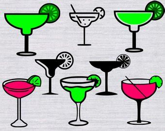 margarita glass svg margarita svg etsy
