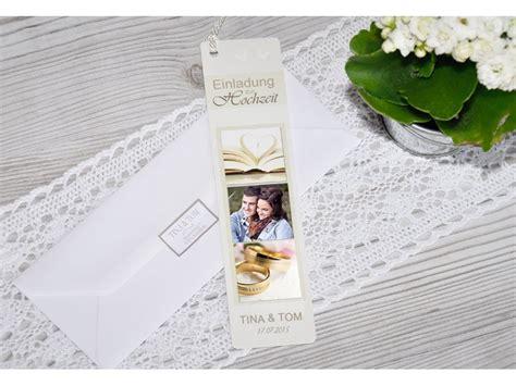 Einladungskarten Hochzeit Creme by Lesezeichen Einladung Hochzeit Einladungskarte Creme