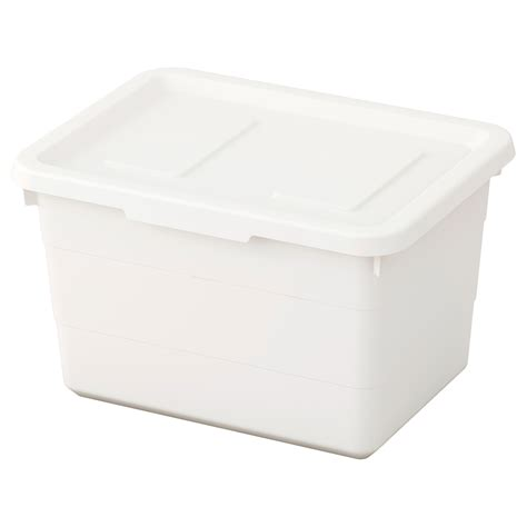 ikea storage box sockerbit box with lid white 19x26x15 cm ikea