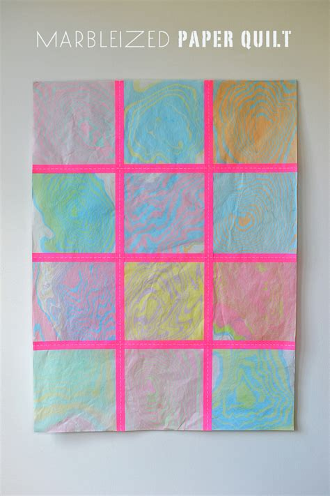 How To Make Patterns On Paper - marbleized paper quilt artbar