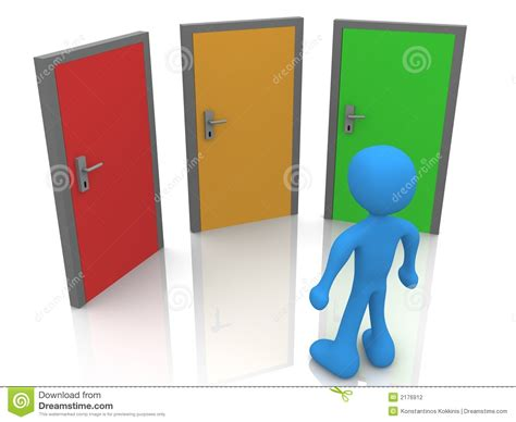 Three Doors by In Front Of Three Doors Stock Photography Image 2176912