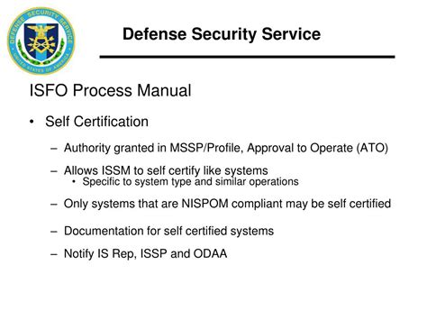 issp template ppt industrial security field operations isfo office