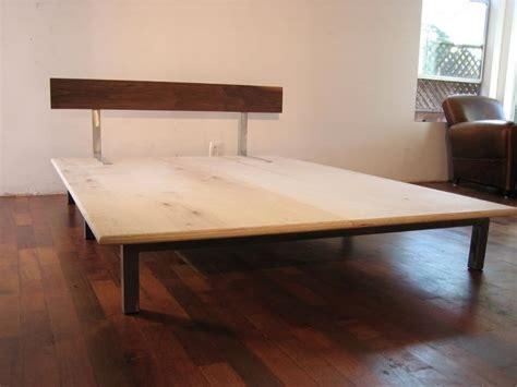 Basic Platform Bed Welded Steel Cross Beam Legs 1 1 4 Quot Plywood Platform Solid