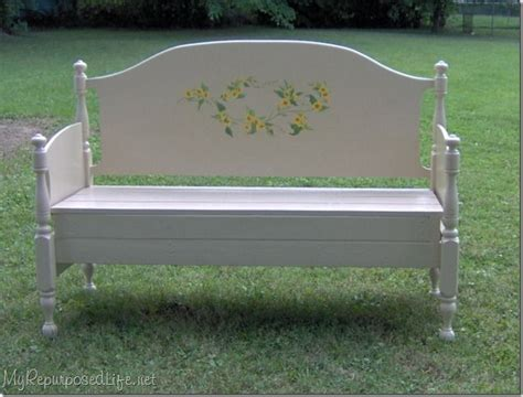headboard bench vintage headboard turned into a bench upcycled furniture pinterest