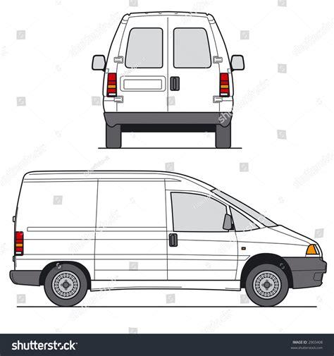 van layout vector delivery mini van layout for presentation vector