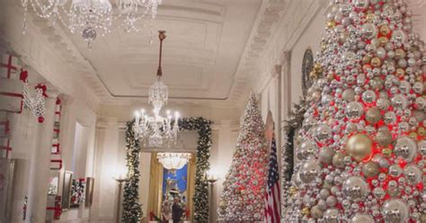 the white house unveils its christmas decorations cbs news
