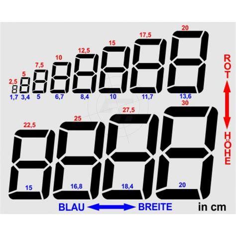 Aufkleber Zahlen by Zahlenaufkleber In Digitalschrift Jede Ziffer Ist Stets