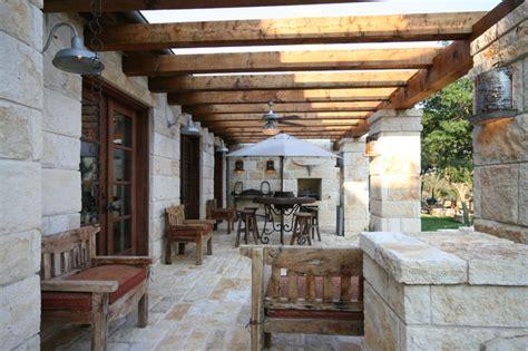 flat rock creek ranch rustic patio dallas by