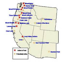 active volcanoes in the continental united states