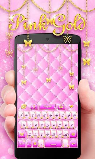 go keyboard themes pink mobile9 download pink gold go keyboard theme google play softwares