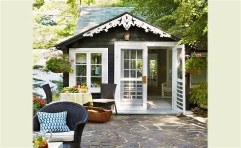 converted garden shed tiny home living pinterest