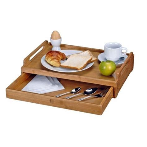 vassoio colazione letto vassoio tavolino in legno bamboo per colazione pranzo cena