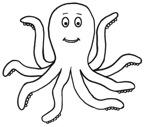 Outline Of A To Color by Octopus Outline Coloring Home